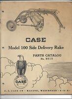 Original OEM OE 04/1955 Case Model 100 Side Delivery Rake Parts Catalog B515