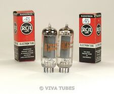 NOS NIB Matched Pair RCA USA 5763 [6062] Grey Plate Foil Strip Get Vacuum Tubes