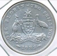 Australia 1933 Florin 2/- George V (Silver) - Fine