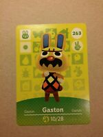 Animal Crossing Amiibo Karte Gaston #263