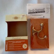 FRANKLIN BRASS DOUBLE WALL HOOK for ANY ROOM w/ SOFT BRASS FINISH # 128049, NIB