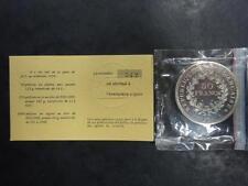 Piefort argent 50 francs Hercule 1974