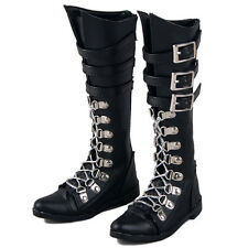 [wamami] 45# Black Synthetic Leather Boots Shoes For SD17 DZ70 70cm BJD Dollfie