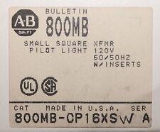 ALLEN BRADLEY 800MB CP16XSW 120V 800MB White Square Lens Small Pilot Light