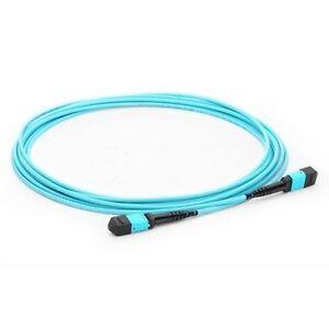 1m MPO Female to MPO Female 12 Fibers OM3 50/125 Multimode Fiber Patch Cable-634