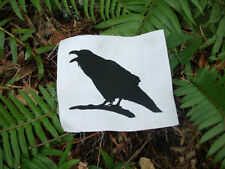 Raven Patch, crow corvid science punk patches bird poe geekery geek magic witch