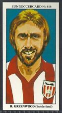 SUN-SOCCERCARDS FOOTBALL-#0616- SUNDERLAND - ROY GREENWOOD