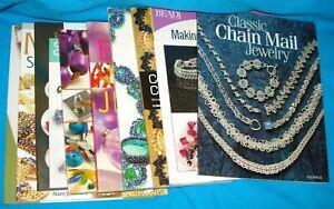 Lot of 10 Beading & Jewelry Making Instructions Books