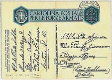 colonie Italiane - Storia Postale: ERITREA Cartolina militare Italiana