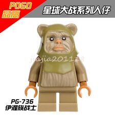 Ewok Warrior Mini Figures Star Wars Attack of the Clones Building Toys #54YY3453