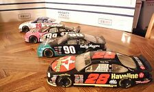 Set of 4 NASCAR Diecast Race Cars 1:24 Scale Hasbro Hot Wheels Racing Champions