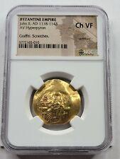 NGC Ch.VF John II Comnenus AV Hyperpyron. 1118-1122 AD. Byzantine Gold.