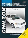 TOYOTA COROLLA SHOP MANUAL SERVICE REPAIR CHILTON 68303 WORKSHOP HOW TO GUIDE
