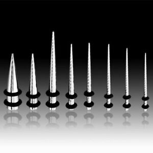 """316L Surgical Stainless Steel Taper / Ear Stretcher With """"O"""" Rings"""