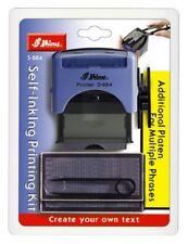 DIY self d'encrage tampon en caoutchouc impression Kit 5 ligne personnalisé nom adresse S-884