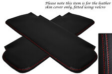 RED STITCHING FITS CORVETTE 1968-1976 2X SUN VISORS LEATHER COVERS ONLY
