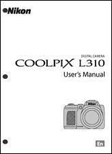 Nikon CoolPix L310 Digital Camera User Guide Instruction  Manual