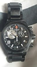Victorinox Swiss Army Mens 241255 Convoy Black Dial Titanium Chronograph Watch