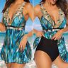 Womens Plus Size Ladies Two Piece Swimsuit Skirted Swimwear Swim Dress Costume X