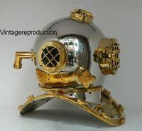 Vintage Diving Helmet US Navy Mark V Scuba Deep Sea Divers Marine Boston Helmet