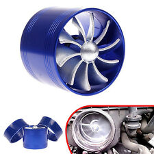 Car SUV Singal Supercharger Turbine Turbo Charger Air Filter Intake Fan Fuel Gas