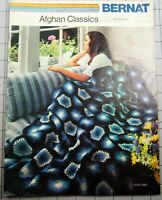 AFGHAN CLASSICS  Crochet Leaflet by Bernat 7 Patterns