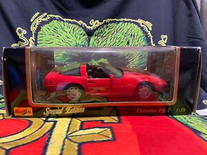Maisto Special Edition 1992 Chevrolet Corvette ZR-1 1:18 Scale Red Stingray 350