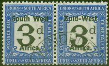 More details for south west africa 1923 3d black & blue sgd12 v.f.u