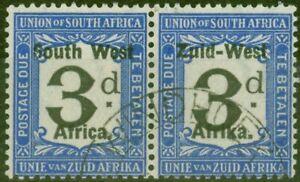 South West Africa 1923 3d Black & Blue SGD12 V.F.U