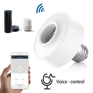 E27 WiFi Smart Light Bulb Socket Adapter Lamp Holder for Google Amazon Echo-(EU)