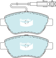 Brake Disc Pad Set  Bendix DB2258 GCT For FIAT 500 312 1.2L 1.3L 1.4L FWD