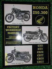 HONDA 250 300 C72 C77 CS72 CS77 CB72 CB77 HAWK FACTORY WORKSHOP MANUAL 1961-1968