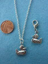 """Collana con pendente charm ANATRA 18"""" Chain. regalo compleanno # 123"""