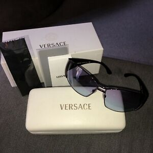 Versace Purple Sunglasses With Case And Box