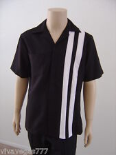 New (Small) Elvis (Black) Speedway Short Sleeved Shirt (Before Jumpsuit Era)