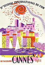 ART ad 1951 Festival di Cannes STAMPA POSTER
