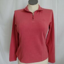 The North Face Pink 1/2 Zip TKA 100 Lightweight Fleece Pullover Women's M Medium