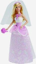 NRFB Poupée Barbie en robe de mariée mariage wedding fairytale bride CCF37