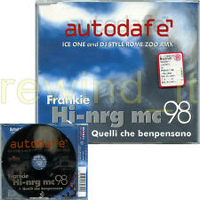 "FRANKIE HI-NRG MC ""AUTODAFE'"" RARO CDsingolo 1998 + REMIX"