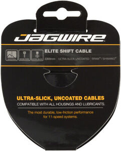 Jagwire Elite Ultra-Slick Shift Cable - 1.1 x 2300mm, Polished Stainless Steel,