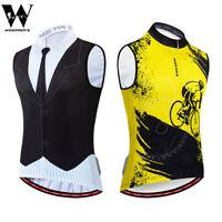 Maglie ciclismo uomo senza maniche maglia MTB traspirante cerniera completa tops