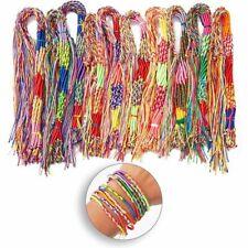 100 штук ручная работа браслеты дружбы красочные шнуры нитки, один размер