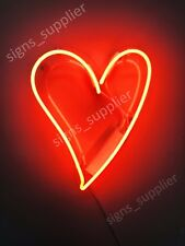 "New Heart Love Neon Sign Acrylic Gift Light Lamp Bar Room 14""x10"""