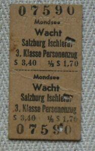 Fahrkarte 1947 - Österreich - Salzburg - Mondsee Wacht