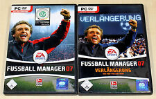 FIFA FUSSBALL MANAGER 07 & ADD ON VERLÄNGERUNG - PC SPIEL - EA SPORTS 2007