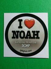 "GENERAL HOSPITAL I LOVE ❤ NOAH SOAP SMALL 1.5"" TV GETGLUE GET GLUE STICKER"