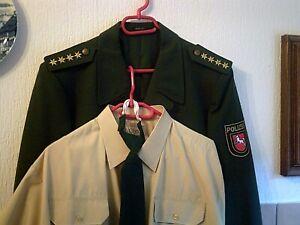 Alte Polizei Uniform NEU grün Niedersachsen Größe 56 mit Hemd u.Krawatte