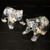 RARE Retired Swarovski Crystal 2011 Companion Polar Bear Cubs 1079156 Mint Boxed
