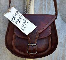 New Genuine leather saddle bag Brown women satchel shoulder bag small purse