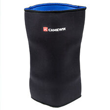 Black Sports Sleeve Elastic Neoprene Knee Support Pullover Protector LW